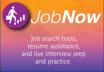 JobNow Job search tools, resume assistance, and live interview prep and practice