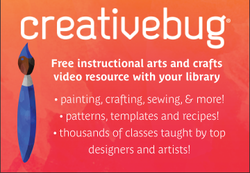 Creative Bug, Free instructional videos with library card