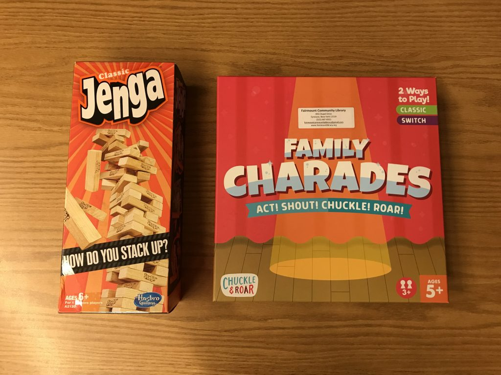 Family Games to Rent from the Fairmount Library, Camillus, NY