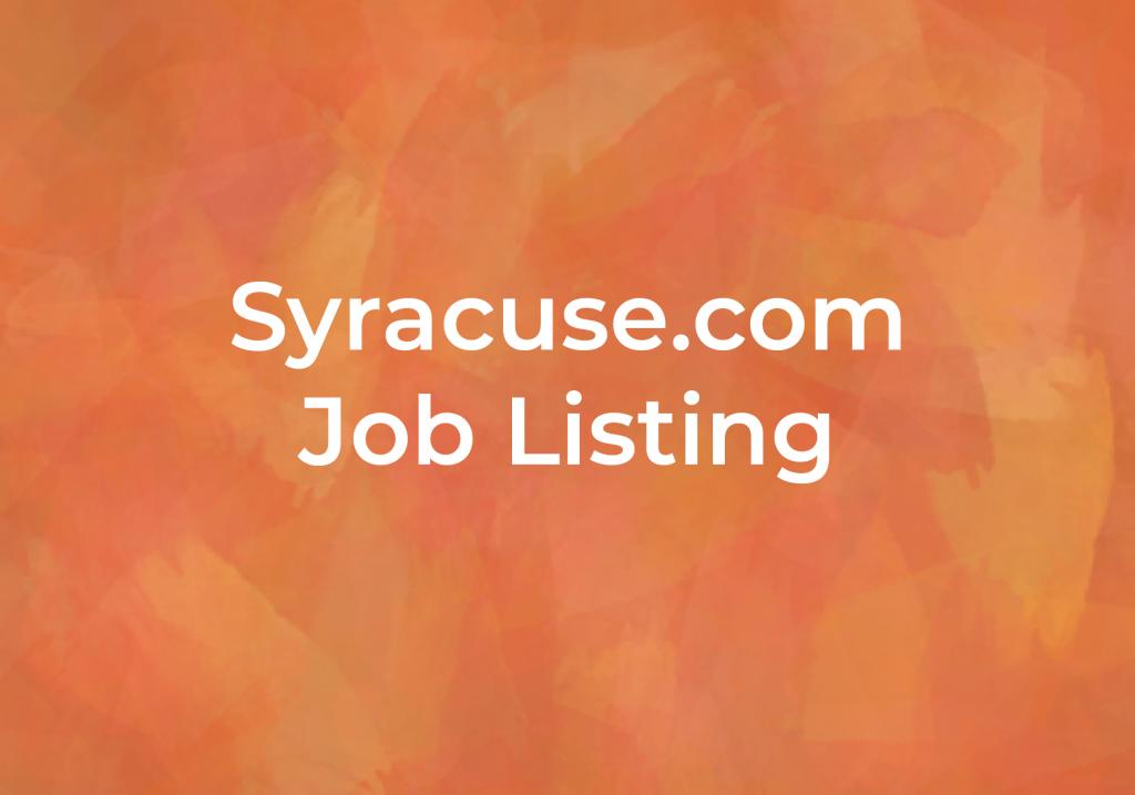 Syracuse.com Job Listing, Local Job resources at Fairmount Community Library, FCL, in Fairmount, Camillus, Syracuse, New York